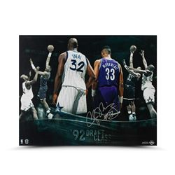 "Alonzo Mourning Signed Hornets ""Draft Class"" 16x20 Photo LE 33 (UDA COA)"