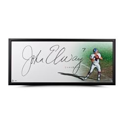 "John Elway Signed ""The Show"" 20x46 Custom Framed Photo (UDA COA)"