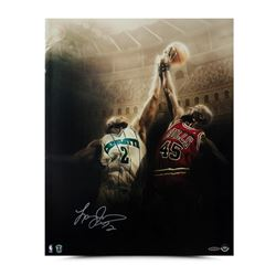 "Larry Johnson Signed Hornets ""Battle"" 16x20 Photo (UDA COA)"