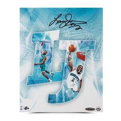 "Larry Johnson Signed Hornets ""LJ"" 8x10 Photo (UDA COA)"