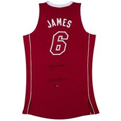 "LeBron James Signed ""Heatles"" Pride Authentic Jersey LE 25 (UDA COA)"