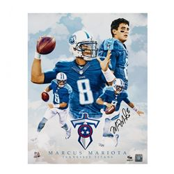 Marcus Mariota Signed Titans LE 16x20 Photo (UDA COA)