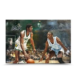 "Michael Jordan  Magic Johnson Signed ""Remember The Times"" LE 16x24 Photo (UDA COA)"