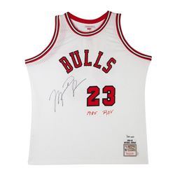 Michael Jordan Signed LE Bulls Mitchell  Ness Rookie Jersey (UDA COA)