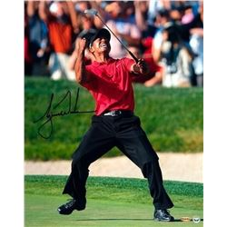 "Tiger Woods Signed 2008 US Open ""Celebration"" 16x20 Photo (UDA COA)"