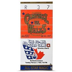 "Wayne Gretzky Signed ""1989 All Star Game"" LE 15x32 Mega Ticket Canvas Inscribed ""All-Star MVP"" (UDA"
