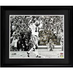 Ken Stabler Signed Raiders 27x33 Custom Framed Photo w/ (4) Inscriptions (Stabler Hologram)