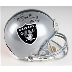 "Tim Brown Signed Raiders Full-Size LE Authentic Pro-Line Helmet Inscribed ""Heisman '87""  ""HOF 2015"""
