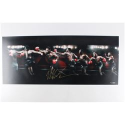 "Mike Tyson Signed LE ""Round House"" 15x36 Photo (UDA COA)"