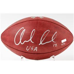 "Andrew Luck Signed LE ""Salute to Service"" Official NFL Game Ball Inscribed ""USA"" (Panini COA)"