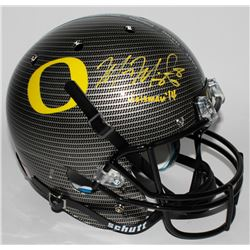 "Marcus Mariota Signed Oregon Ducks Custom Carbon Fiber Full-Size Helmet Inscribed ""Heisman '14"" (Mar"