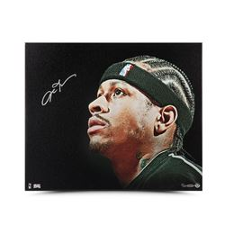 "Allen Iverson Signed 76ers ""Up Close  Personal"" LE 20x24 Canvas (UDA COA)"