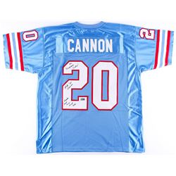 "Billy Cannon Signed Oilers Jersey Inscribed ""The 'Origninal Oiler'""  ""Houston First Ever Draft Pick"""