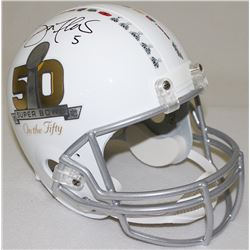 Joe Flacco Signed Super Bowl 50 Full-Size Helmet (Radtke COA)