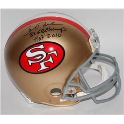 "Jerry Rice Signed Limited Edition 49ers Full-Size Authentic Pro-Line Helmet Inscribed ""3X SB Champ"""