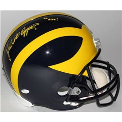 "Jabrill Peppers Signed Michigan Wolverines Full-Size Helmet Inscribed ""Go Blue!"" (JSA COA)"