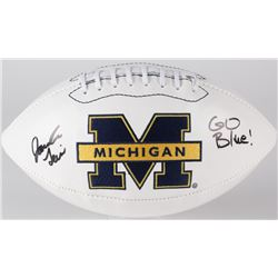 "Jourdan Lewis Signed Michigan Wolverines Logo Football Inscribed ""Go Blue!"" (JSA COA)"