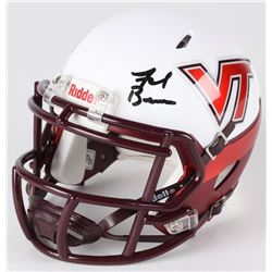 Frank Beamer Signed Virginia Tech Hokies Mini Helmet (JSA COA)