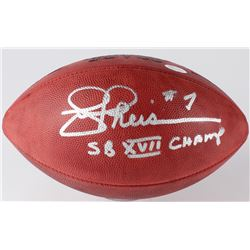 "Joe Theisman Signed Wilson Official NFL Game Ball Inscribed ""SB VXII Champs"" (JSA COA)"