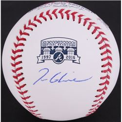 Tom Glavine Signed Turner Field Commemorative OML Baseball (JSA COA)