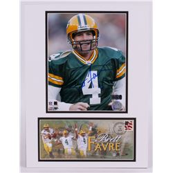 Brett Favre Signed Packers 12x16 Custom Matted Photo (Favre Hologram)