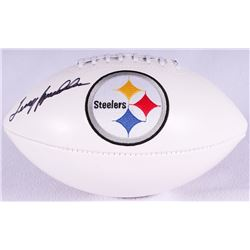 Terry Bradshaw Signed Steelers Logo Football (PSA COA)