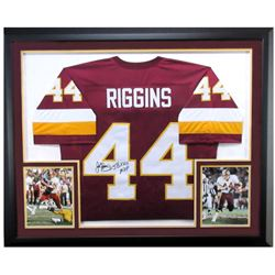 "John Riggins Signed Redskins 37x44 Custom Framed Jersey Inscribed ""SBXVII MVP"" (JSA Hologram)"