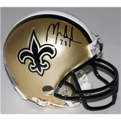 Mark Ingram Signed Saints Mini-Helmet (Ingram Hologram)