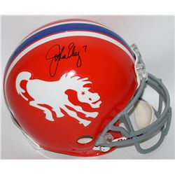 John Elway Signed Broncos Throwback Full-Size Authentic Pro-Line Helmet (Radtke COA  Elway Hologram)