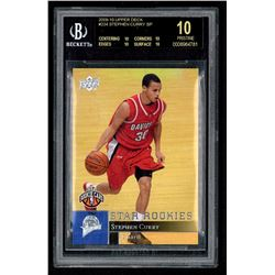 2009-10 Upper Deck #234 Stephen Curry SP RC (BGS 10)