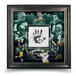 Brett Favre Signed Packers 36x36 Custom Framed Tegata Display (UDA COA)