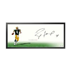 "Brett Favre Signed Packers ""The Show"" 20x46 Custom Framed Photo (UDA COA)"