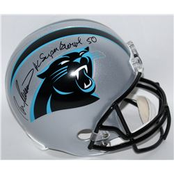 "Ron Rivera Signed Panthers Full-Size Helmet Inscribed ""HC Super Bowl 50"" (Radtke COA)"