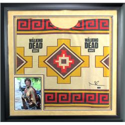 "Norman Reedus Signed ""The Walking Dead"" 36""x37"" Custom Framed Poncho (Radtke COA)"