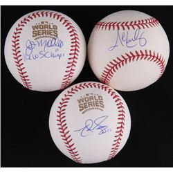 Lot of (3) Signed Baseballs with (1) Matt Szczur, (1) John Mallee  (1) John Lackey (Schwartz COA)
