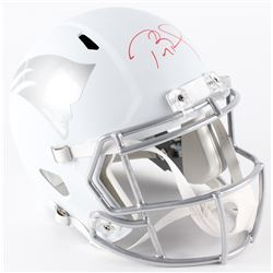 Tom Brady Signed Limited Edition Patriots Full-Size Custom Matte White ICE Speed Helmet #12/12 (Tris
