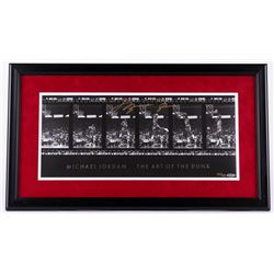 "Michael Jordan Signed ""The Art of the Dunk"" LE Bulls 17"" x 30"" Custom Framed Filmstrip Photo #247/32"