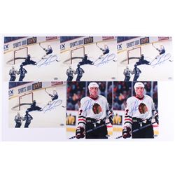 Lot of (6) Jeremy Roenick Signed Blackhawks Photos (Schwartz COA)