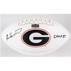 "Fran Tarkenton Signed Georgia Bulldogs Logo Football Inscribed ""CHOF 87"" (Radtke COA)"