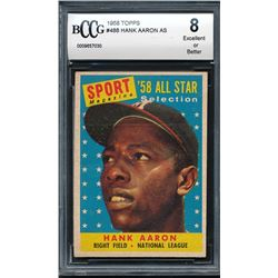 1958 Topps #488 Hank Aaron AS (BCCG 8)