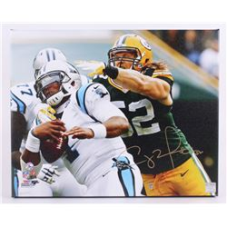 "Clay Matthews Signed Packers 16""x20"" Photo on Canvas (Matthews Hologram)"