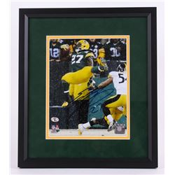 "Eddie Lacy Signed Packers 13.5""x15.5"" Custom Framed Photo Display (Legends of the Field Hologram)"