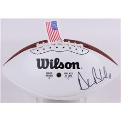 Drew Bledsoe Signed Wilson White Panel Football (JSA COA)