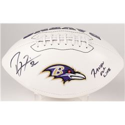 "Ray Lewis Signed Ravens Logo Football Inscribed ""Raven For Life"" (Radtke COA)"