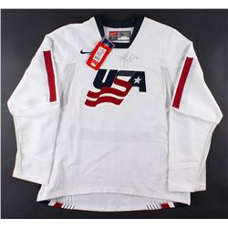 Mike Modano Signed USA Jersey (JSA LOA)