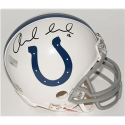 Andrew Luck Signed Colts Mini-Helmet (Panini COA)