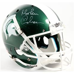 "Morten Anderson Signed Michigan State Spartans Full-Size Helmet Inscribed ""Go Green"" (Radtke COA)"