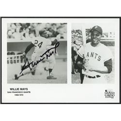 Willie Mays Signed Giants 5x7 Photo (JSA COA)