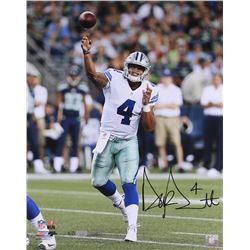 "Dak Prescott Signed LE Cowboys ""Release"" 16x20 Photo (Panini COA)"