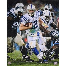 "Andrew Luck Signed LE Colts ""Downpour"" 16x20 Photo (Panini COA)"